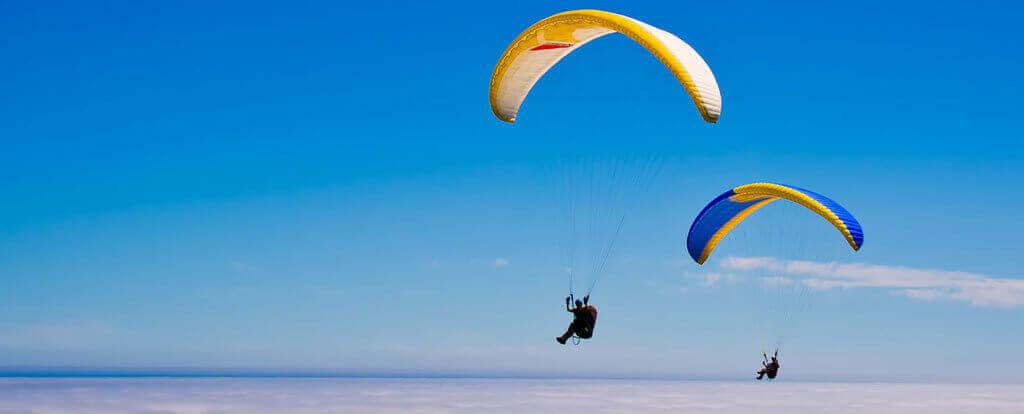 Adrenalinový paragliding v tandemu stips